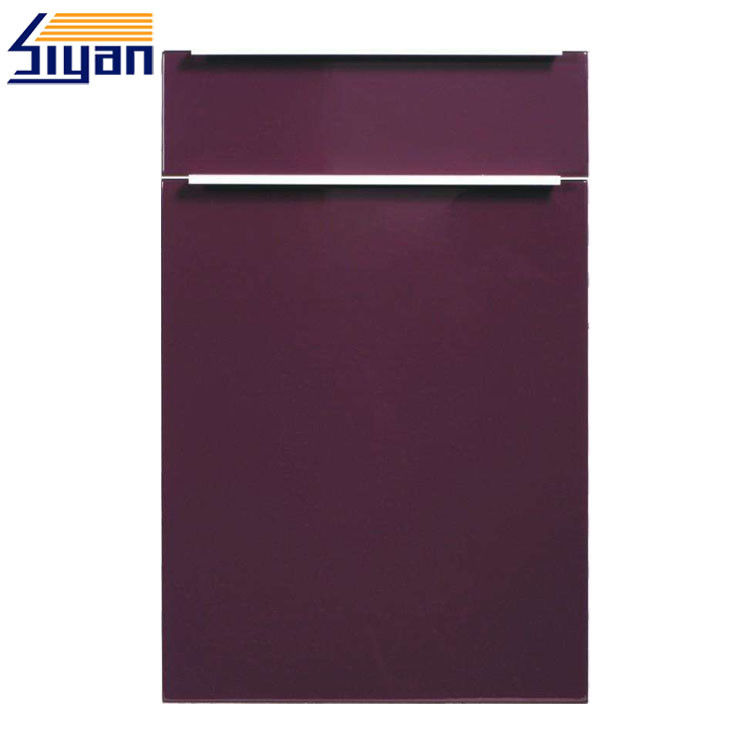 Simple Flat Modern Kitchen Cabinet Doors PVC Film With 407*615mm Size