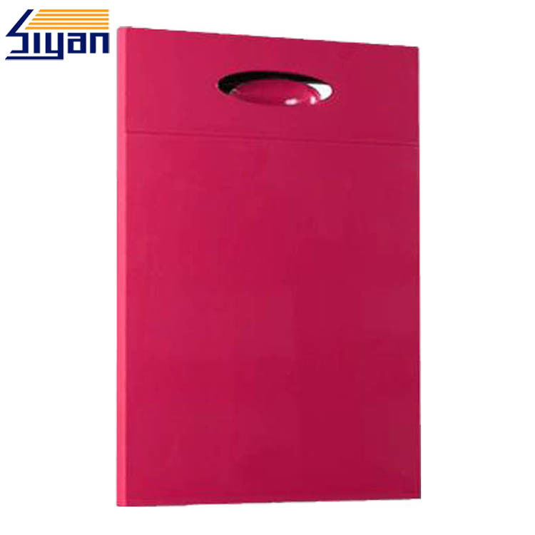 Rose Red MDF Modern Kitchen Cabinet Doors Flat Panel Sizes Customized