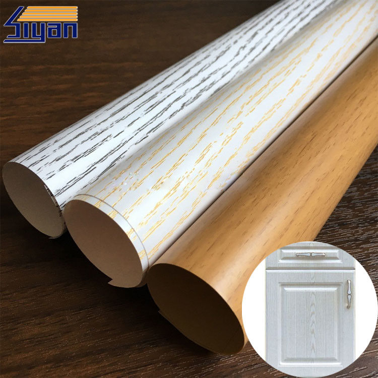 Hot Stamping High Gloss PVC Film For Cabinet Door Lamination , 1260-1400mm Width