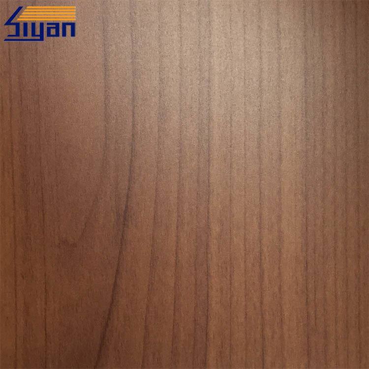 Wood Grain PVC Furniture Film Non Adhesive , PVC Wood Grain Film For MDF