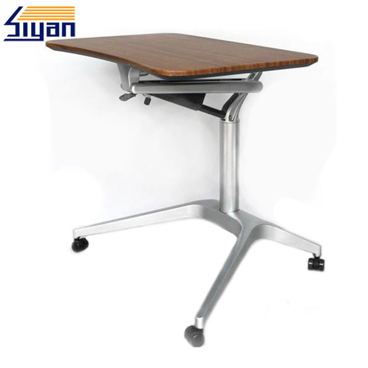 Modern Design Adjustable Table Top 500*710mm Size With Base And Wheels