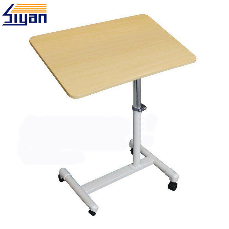 Home Furniture Overbed Table Swivel Top Simple Design With Vacuum Press